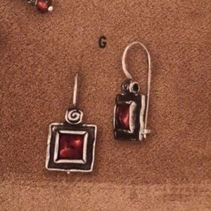 Silpada Sterling silver & genuine garnet earrings